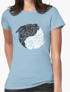 Reshiram & Zekrom Womens Fitted T-Shirt