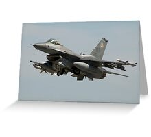 F-16 Departure Greeting Card