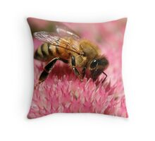 Gathering Nectar Throw Pillow
