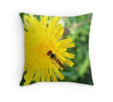 Yellow Dinner. Throw Pillow