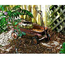 Rusty Wagon Photographic Print