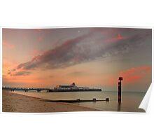Bournemouth Pier Sunrise Poster