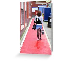 Girl and red path Greeting Card