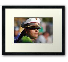 Police Woman Framed Print