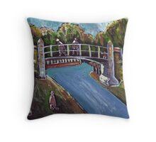 The iron bridge Throw Pillow