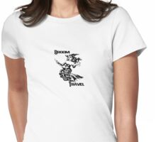 broom travel Womens Fitted T-Shirt
