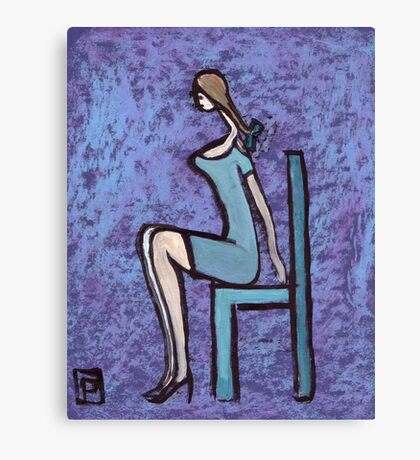Seated girl Canvas Print