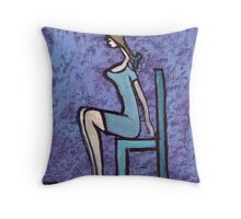Seated girl Throw Pillow