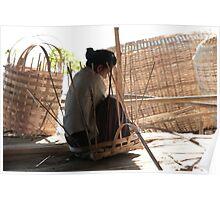 Myanmar weaving magic Poster