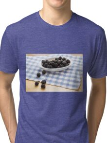 Fresh Blackberries in Window Light Tri-blend T-Shirt