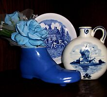 Blue Pottery by LeftHandPrints
