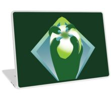 A taloned hand holding a crystal globe Laptop Skin