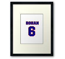 National football player Rohan Davey jersey 6 Framed Print