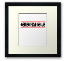 Basketball Slogan One Life, Love, Game Used Look T.png Framed Print