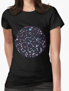 Starry Sky (purple twinkle) Womens Fitted T-Shirt