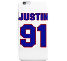 National football player Justin Tuck jersey 91 iPhone Case/Skin