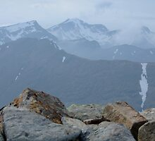 View from Buachaile summit towards Bidean by benmacdui