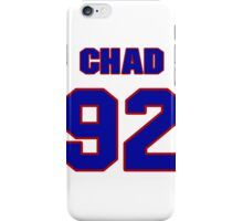 National football player Chad Bratzke jersey 92 iPhone Case/Skin
