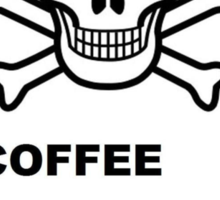 Skull & Crossbones ~ Coffee (Larger Version) Sticker