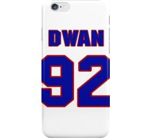 National football player Dwan Edwards jersey 92 iPhone Case/Skin