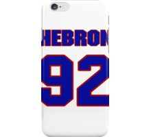 National football player Hebron Fangupo jersey 92 iPhone Case/Skin