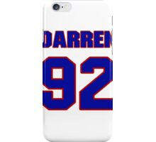 National football player Darren Mickell jersey 92 iPhone Case/Skin
