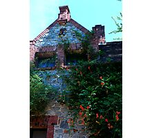 detail of Bourn Cottage edifice... Photographic Print