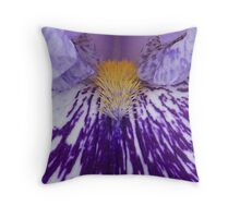Variegated Iris Throw Pillow