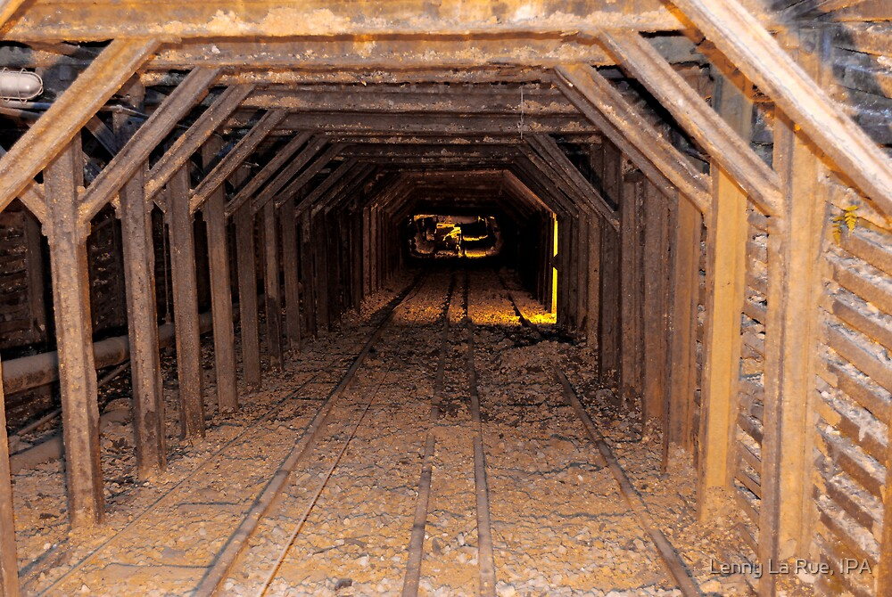 entry for miners, exit for gold ore by Lenny La Rue, IPA