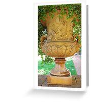 mid-1800 vase/planter Greeting Card