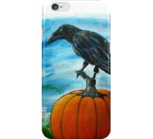 Crow on Pumpkin iPhone Case/Skin
