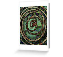 Abstract Ripples Greeting Card