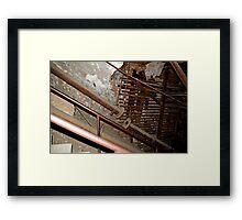 rusty ironwork holding mine open Framed Print