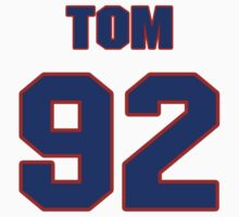 National football player Tom Briehl jersey 92 by imsport