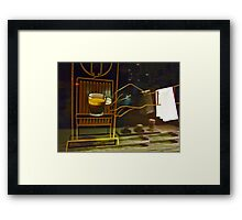 Your Coffee, Sir.... Framed Print