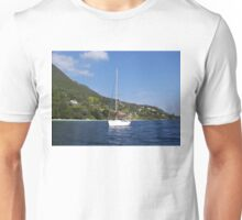 Modern Sailboat In The Ionian Sea Unisex T-Shirt