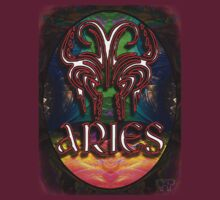 ARIES Zodiac Sign Colorful Fractal Psychedelic Design by capartwork