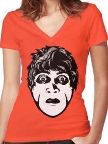 Dr Caligari Original Face Women's Fitted V-Neck T-Shirt