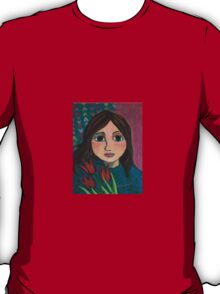 Girl with Tulips T-Shirt