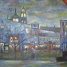 When Night falls / On The Beautiful City Streets           ( My Paintings )  by fiat777
