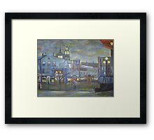 When Night falls / On The Beautiful City Streets           ( My Paintings )  Framed Print