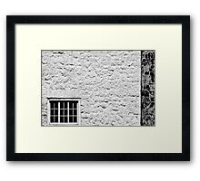 Window on White Wall Framed Print