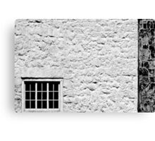 Window on White Wall Canvas Print