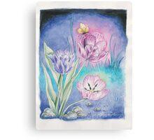 The Vespertine Tulips  Canvas Print