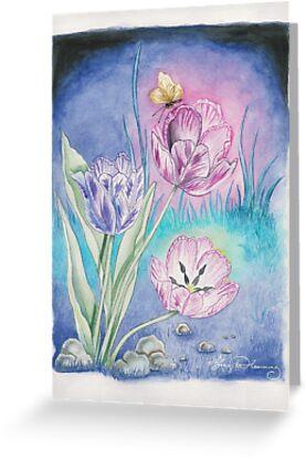 The Vespertine Tulips  by AngelArtiste