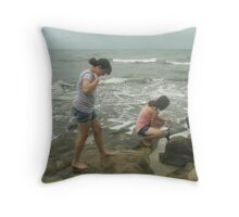 Beach Explorers Throw Pillow