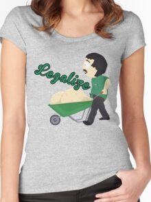 Legalize Marijuana, Randy Marsh South Park style Women's Fitted Scoop T-Shirt