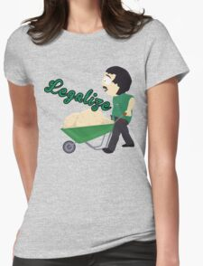 Legalize Marijuana, Randy Marsh South Park style Womens Fitted T-Shirt
