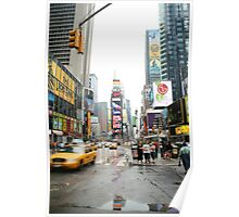 Rainy Day in NYC Poster