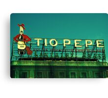 Tio Pepe Canvas Print